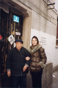 With an old gentleman from Shanghai