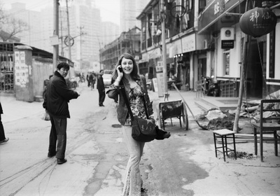 Sylvie Levey filming Shanghai Waiting for Paradise